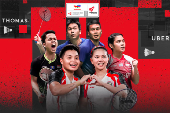 Live Streaming Uber Cup Indonesia vs Thailand